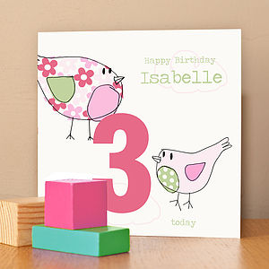 Child's Birthday Card For A Girl - birthday cards