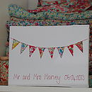 White bunting personalised journal