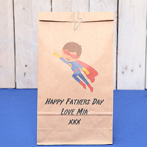 Personalised Superhero Gift Bag
