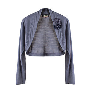 Shrug Fine Knit > Purple Smoke - women's fashion