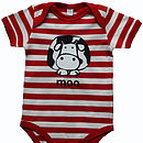 Cow Short Sleeve Baby Grow