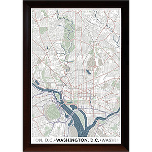 Washington DC Typographic Map - home accessories