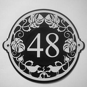 Art Nouveau House Number Plate