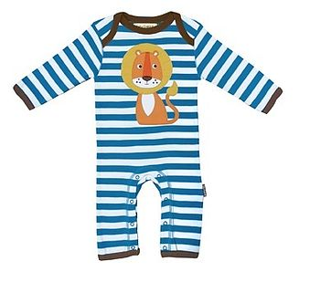 Baby Organic Lion Playsuit