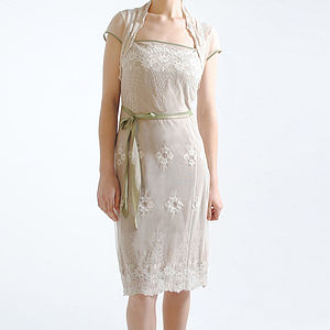 Ivory Edie Lace Dress - art deco wedding style