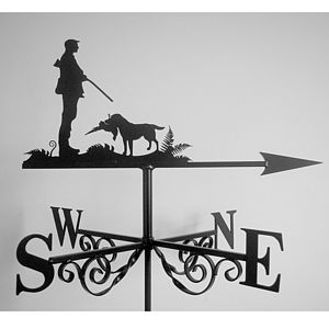 Gun Dog Weathervane - sculptures & ornaments