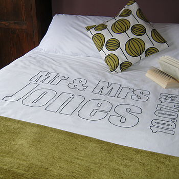 Personalised Couple Stitched Duvet Cover