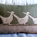 Running Pheasants Cushion