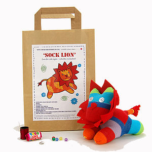 Sock Lion Craft Kit - toys & games