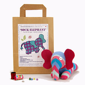 Sock Elephant Craft Kit - view all gifts for babies & children