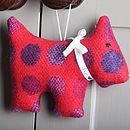Personalised Wool Dog Decoration