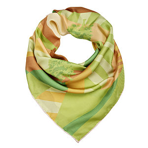 Grassland Silk Scarf - hats, scarves & gloves
