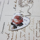 Porcelain Rose Heart Pendant