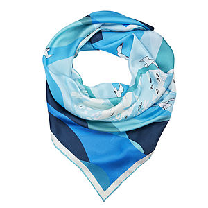Cliffs Of Dover Silk Scarf - hats, scarves & gloves