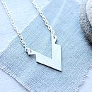 Silver Geometric Angular Necklace