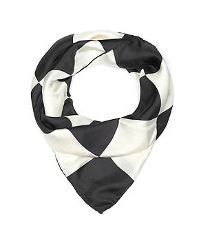 Checkerboard Silk Scarf
