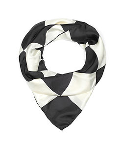Checkerboard Silk Scarf - hats, scarves & gloves