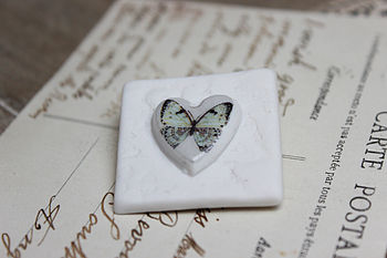 Lace Blue Butterfly Brooch