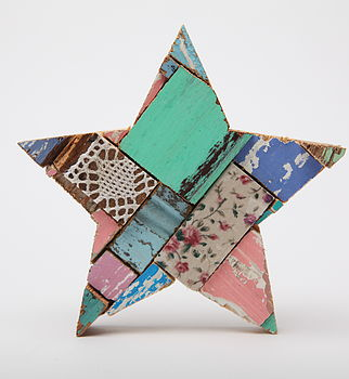 Patchwork Star Wall Art