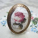 Porcelain Rose Cameo Ring