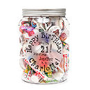 Personalised Birthday Giant Jar Of Sweets