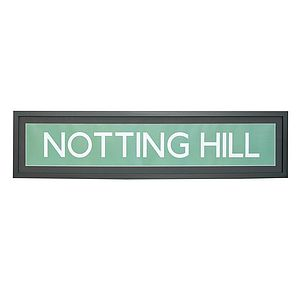 'Notting Hill' London Framed Print - posters & prints