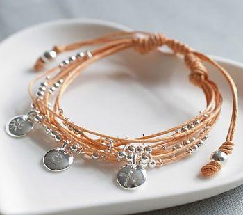 Personalised Friendship Bracelet In Orange