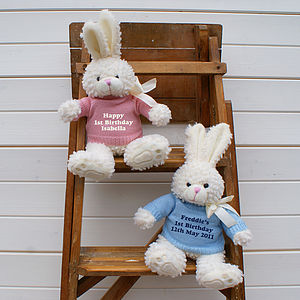 Personalised Bunny Rabbit Gift - soft toys & dolls