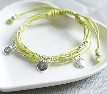 Personalised Friendship Bracelet In Citrus