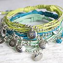 Personalised Friendship Bracelet Mint Green