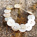 Shell Button Bracelet