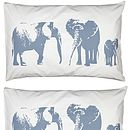 Set Of Two Elephant Family Pillowcases