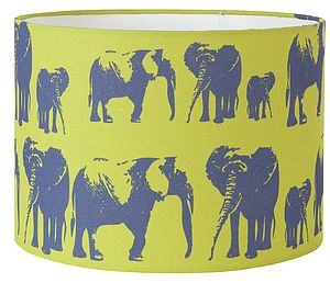 Elephant Family Lampshade - children's room accessories