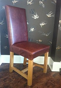 Luxury Aniline Leather Dining Chairs - furniture