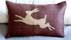 Leaping Hare Cushion - cushions