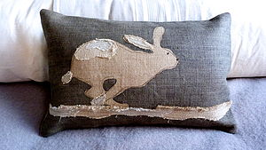 Racing Hare Cushion - cushions