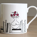 Books And Flowers Mug