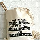 'Knit Me Knit Me' Tote Bag