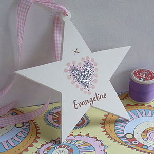 Personalised Wedding Or Christening Star - keepsakes
