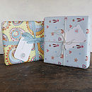 chose from these two wraps if you'd like gift wrapping