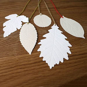 Set Of Twenty From Leaf Recycled Paper Tags - cards & wrap