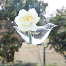 Glass Bird Hanging Vase