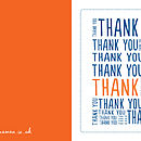 'Thank You' Square Greetings Card