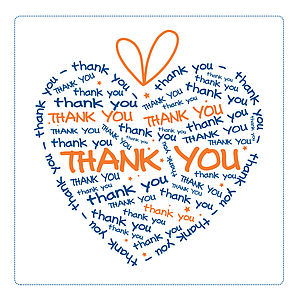 'Thank You' Heart Greetings Card