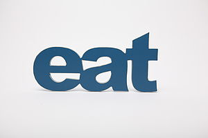 'Eat' Wooden Word Wall Art - children's room accessories