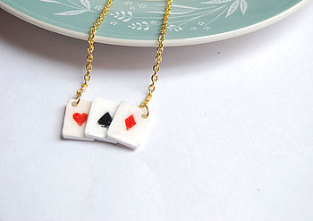 Layered Playing Card Necklace