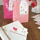 matching party bags and tags available