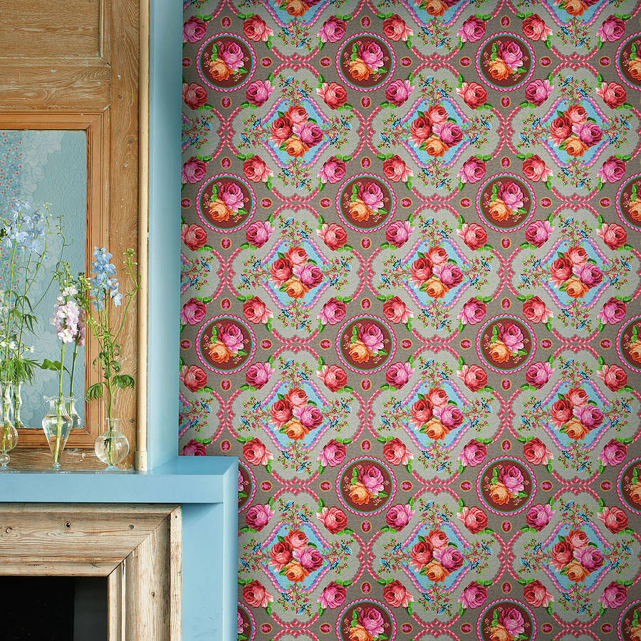 Pip Tapete Flowers In The Mix : Pin Pip Studio Tapete Flowers In The Mix Hellblau Wallpaper on