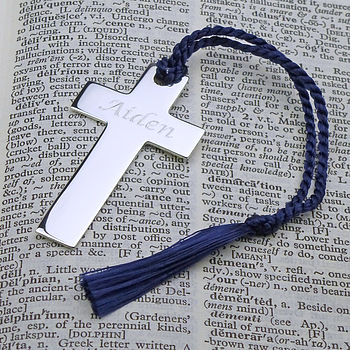 Personalised Silver Cross Bookmark