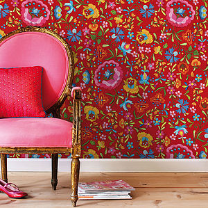 Embroidery Wallpaper By PiP Studio - dining room